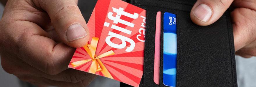 Acheter des cartes e-cadeau en ligne