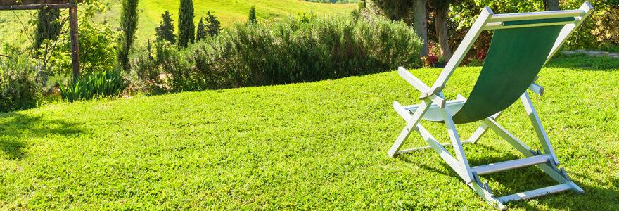 Choisir le transat de jardin d'été